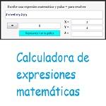 Calculadora de expresiones matemáticas