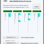 utilidad de cálculo del mcd y mcm