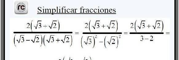 simplificar fracción algebraica