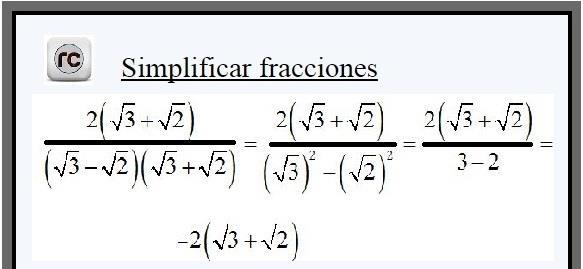 Simplificar fracciones algebraicas - raiz cuadrada - raiz cuadrada