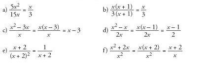 soluciuón ejercicios fracciones algebraicas