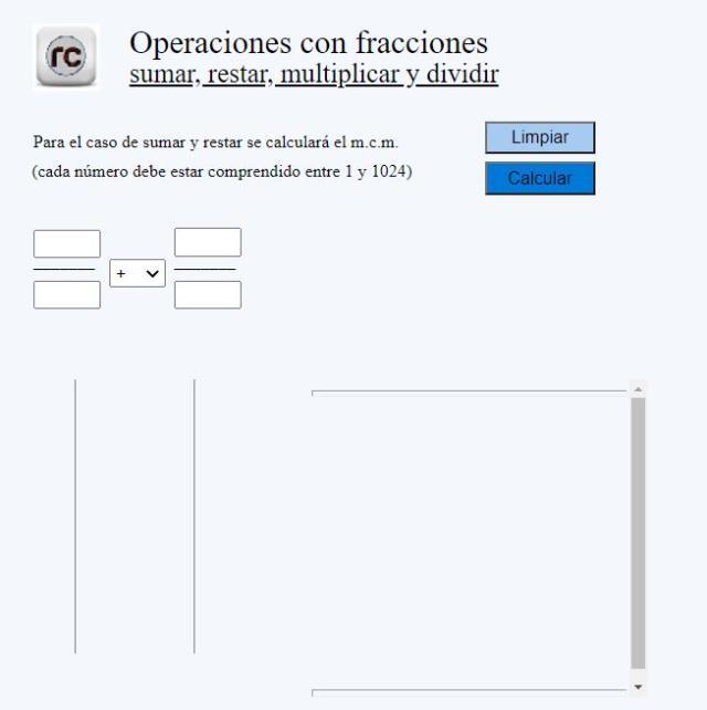 Operaciones matemáticas con fracciones